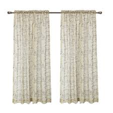 calitime window curtains panels 50 x 84 french script faux linen sheers