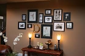 create a dramatic photo wall display