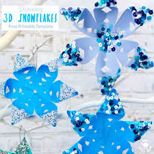 Snowflakes Template Pdf Free Printable Template 3d Snowflakes Kids Craft Room