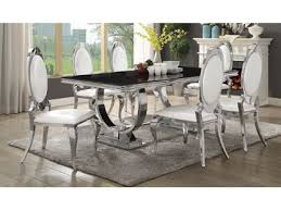 home and furniture captivating chrome kitchen table of antoine black tempered glass dining set