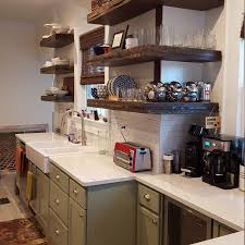 24 floating wall shelves kitchen