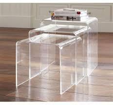 homcom acrylic nesting table set 3 pc display steps aosomcouk