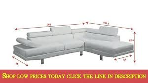 faux leather sectional sofas modern 2 pieces white faux leather sectional sofa right chaise in 2