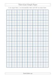 Three Line Graph Paper With 2 Cm Major Lines 1 Cm