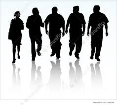 Group Of Business People Walking And Talking Stock Illustration