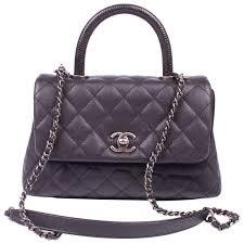 Chanel Coco Handle Flap Bag Mini Lizard and Caviar Quilted Leather ... & Chanel Coco Handle Flap Bag Mini Lizard and Caviar Quilted Leather - black 1 Adamdwight.com