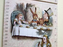 Wonderland Height Chart Alice In Wonderland Childrens Growth Chart By