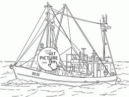 Small Picture Real Fishing Vessel coloring page for kids transportation