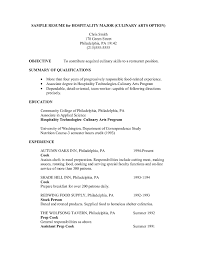 Culinary Arts Resume Culinary Arts Resume Samples Resume Papers 1