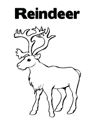 Christmas Reindeer Coloring Pages Legendary Red Nosed Reindeer Funny