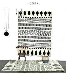 black and white kilim rug black and white rug wool handmade carpet geometric black and white black and white kilim rug