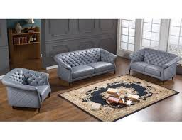 albany grey leather chesterfield sofa set jpg