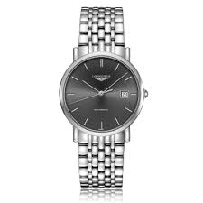 longines flagship mens watch l4 874 4 52 6 the watch gallery longines elegant collection automatic stainless steel black dial mens watch l48094726