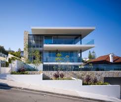 luxury modern interiors   Terrific Luxury Home Exterior Design with  Extensive Views of the .