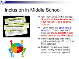 inclusion from a student s side ppt  inclusion in middle school