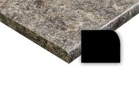 customcraft countertops 25 x 61 jamocha granite laminate countertop with both ends capped