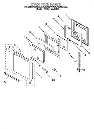 kebs277dwh1 built in electric oven oven door parts diagram