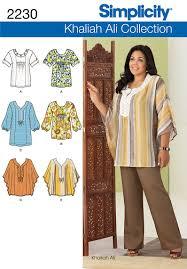 Women's Tunic Pattern Inspiration Simplicity 48 Khaliah Ali Women's TunicTop