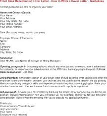 Cover Letter For Front Office Receptionist