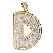 cj15301 1 custom diamond letter d pendant