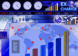 Live Forex Trading Rooms Abstract Business Concept Foreign Currency Exchange Market Scene