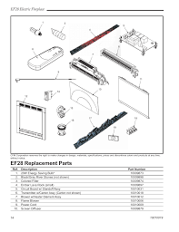 ef28 replacement parts ef28 electric fireplace cfm corporation ef28 user manual page 14 16