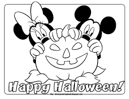 Halloween Mickey Minnie Mouse Coloring Pages