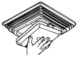 how to remove nutone bathroom fan light