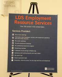 A sign welcomes students visiting LDS Employment Resource Services at LDS Business College  Photo by Marianne Holman Prescott  The Church of Jesus Christ of Latter day Saints