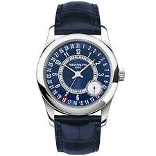 patek philippe watches at berry s jewellers calatrava small seconds 18ct white gold blue dial automatic men s leather strap watch