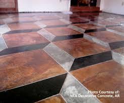 Concrete Stain Designs Soycrete Three Color 3d Design From Nea Decorative Concrete