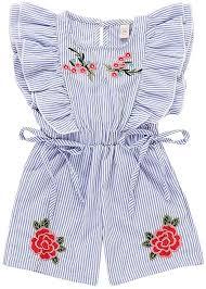 Miyanuby <b>Summer Girl</b> Romper <b>Embroidery</b> Floral Ruffle Sleeve ...