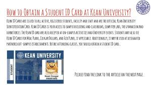 how to obtain a student id card at kean university