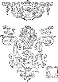 vintage rococo scroll frames and ornaments picture saw patterns
