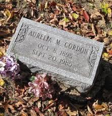 Aurelia M. Booth Gordon (1895-1985) - Find A Grave Memorial