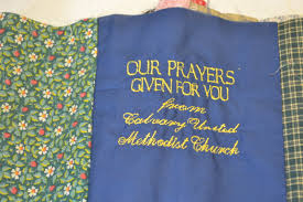 Missions | Calvary United Methodist Church - North Lima, Ohio & When the quilts are finished, there is a loose thread in the center of each  square. After Sunday service, worshipers tie a knot in the loose thread, ... Adamdwight.com