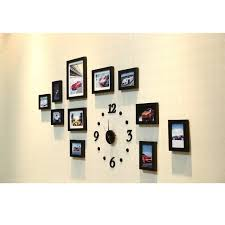 get ations creative wall decor collage photo frame set with clock family pictures wood photo frame
