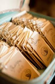 compile your favorite recipes and share them with guests in a timeless recipe book this creative wedding favor idea is easily personalized with family
