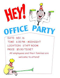 Office Holiday Party Invitation Wording Company Work Template ...