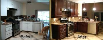 kitchen resurface cabinets before and after cabinet refacing refacing kitchen cabinets before and after photos