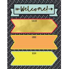 Classroom Decoration Charts For High School Aim High Welcome Chart