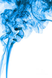 abstract photograph abstract vertical deep blue mood colored smoke art 03 by alexandra k