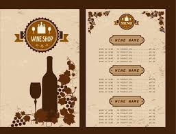 Free Wine List Template Download Wine List Design Template Rome Fontanacountryinn Com