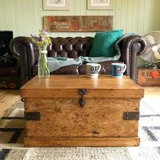 chest trunk coffee table vintage rustic pine industrial factory tool chest trunk coffee table blanket box