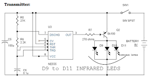 ir infrared remote control switch circuit and applications circuit diagram of infrared remote control switch