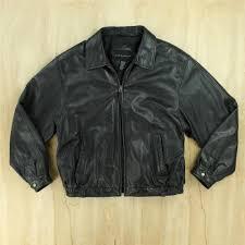 details about croft barrow leather jacket broken zipper large black d to move