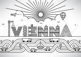 Letters In Design Vienna City Typography Design With Building Letters
