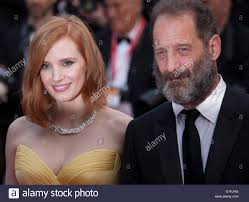 Actress Jessica Chastain and actor Vincent Lindon at the gala ...