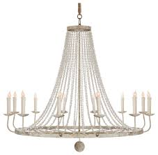 naples french country classic beaded grey 12 light chandelier