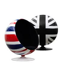 union jack ball pod chair with regard to union jack chair inspirations 9